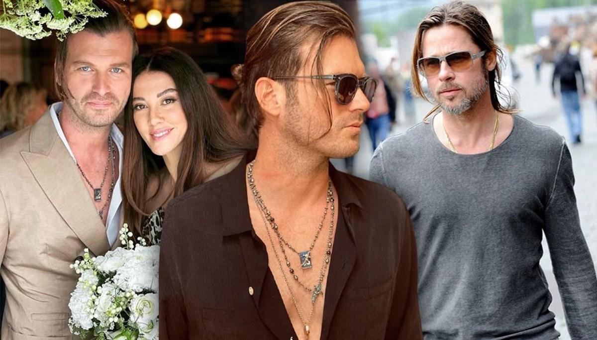 Kıvanç Tatlıtuğ yeni imajıyla Brad Pitt'e benzetildi