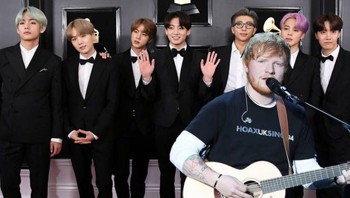 BTS ile Ed Sheeran'dan işbirliği