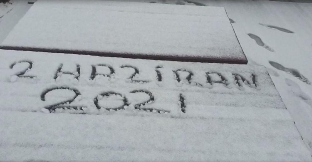 Geçen hafta 30 derece bugün kar - 1