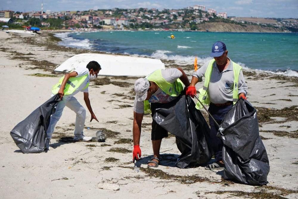 Tekirdağ'ın tatil beldesinde 500 ton çöp toplandı - 9