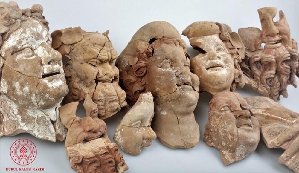 Ordu Kurul Kalesi'nde 2 bin 100 yıllık büst ve masklar bulundu - 6