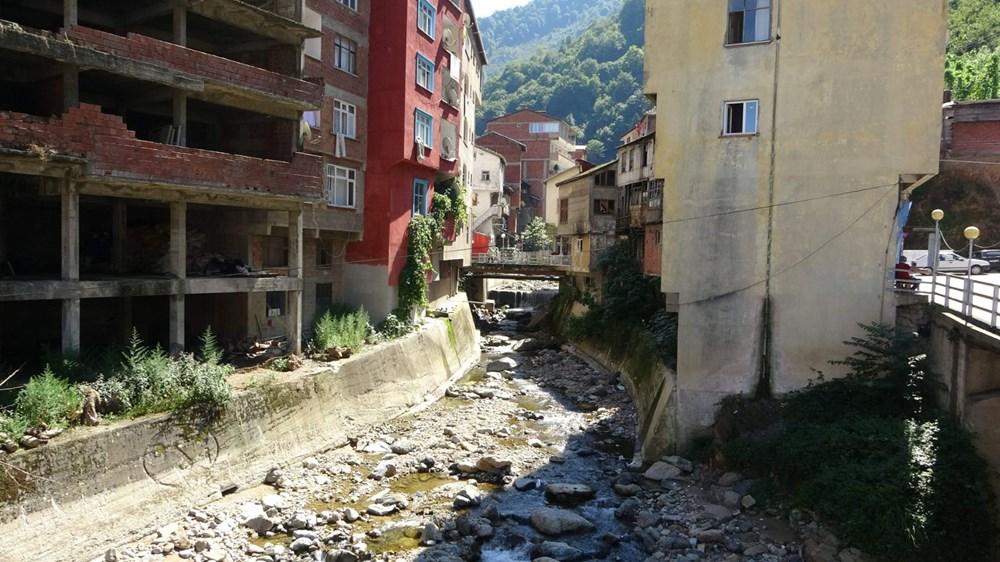 Trabzon'da tedirgin eden görüntü: Giresun'un Dereli ilçesi gibi sel riski taşıyor - 4