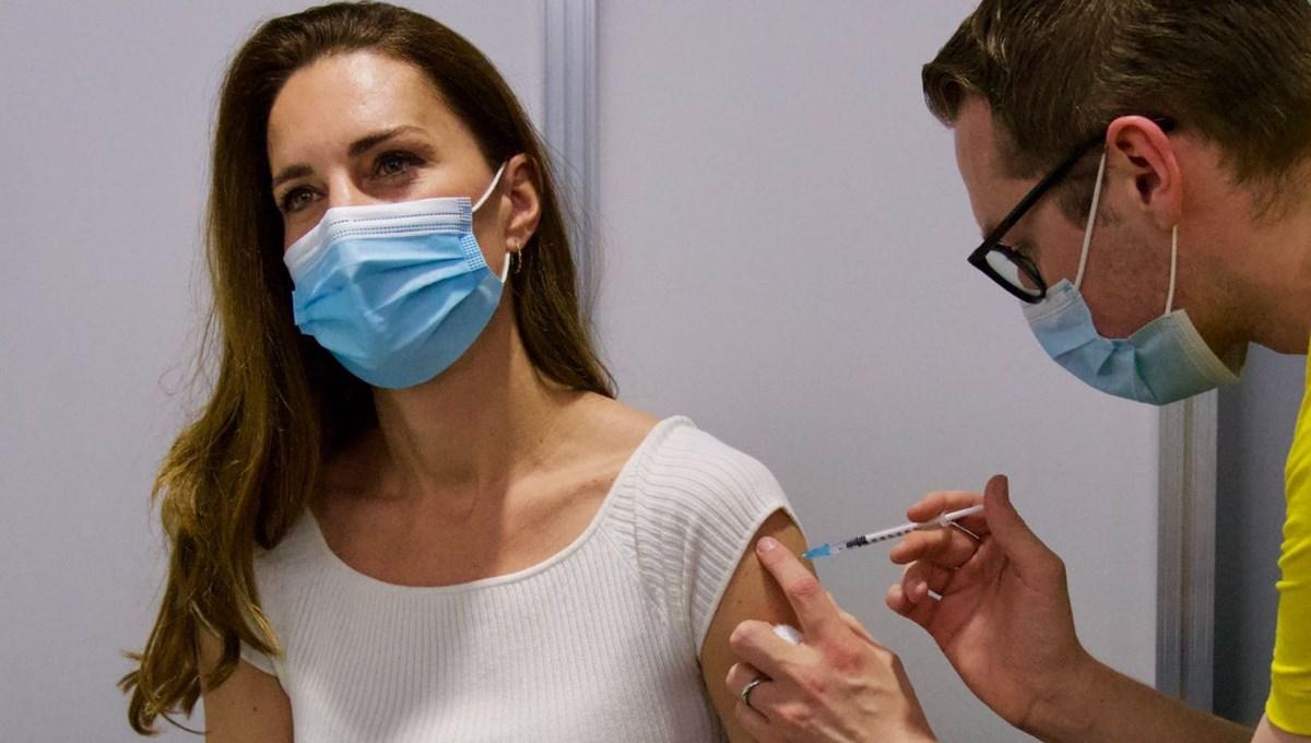 Camrbridge Düşesi Kate Middleton corona virüs aşısı oldu