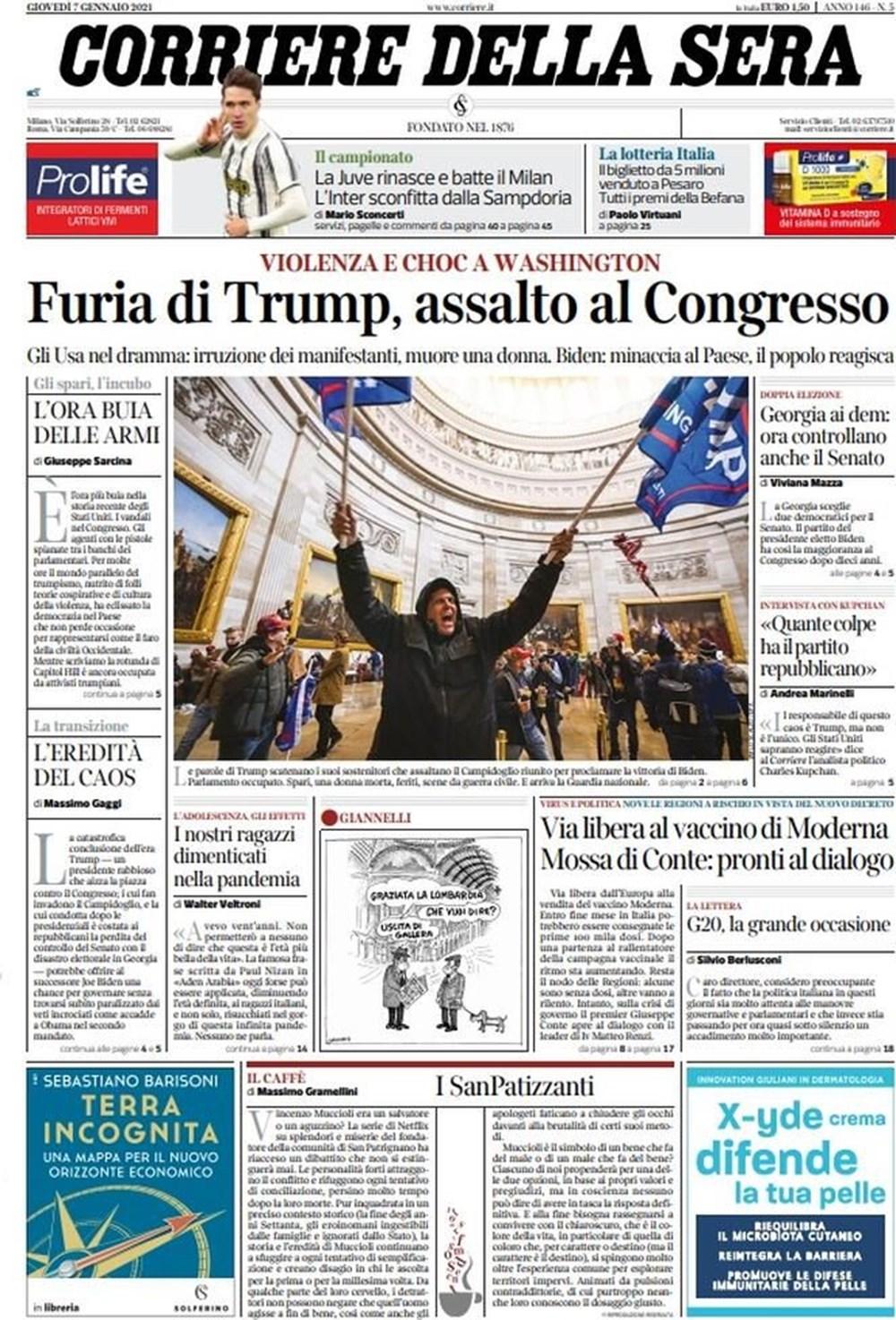 """""""ABD'de Anarşi"""": Trump destekçilerinin Kongre işgalini dünya basını nasıl gördü? - 15"""