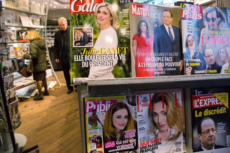 Hollande, Valerie Trierweiler'ı Julie Gayet ile aldatmıştı