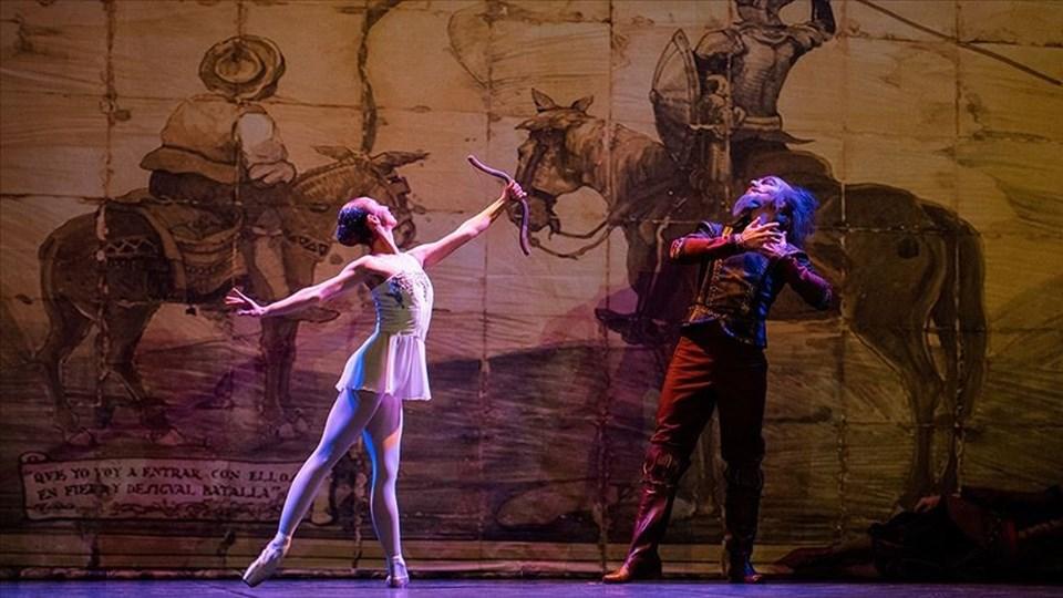 Miguel de Cervantes'in aynı adlı romanından baleye uyarlanan Don Kişot