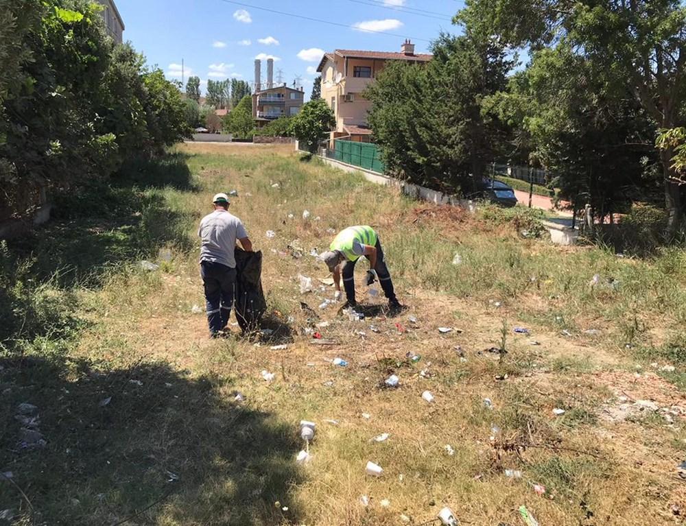 Tekirdağ'ın tatil beldesinde 500 ton çöp toplandı - 14