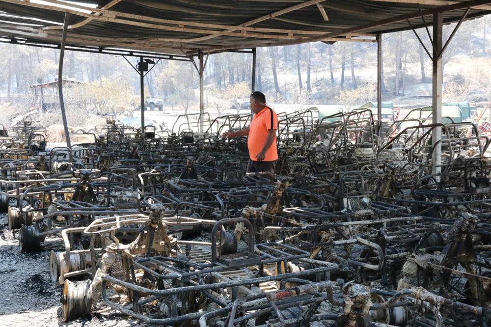 Manavgat'ta safari tesisi küle döndü, alevlerin arasında kalan işletme sahibi ölümden döndü - 6