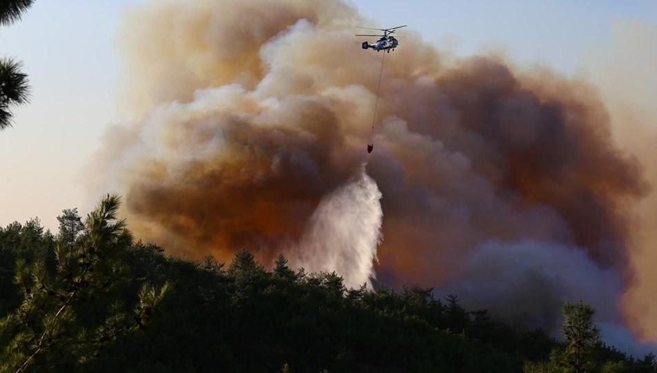 Hatay'da orman yangını: 3 ilçeye yayıldı