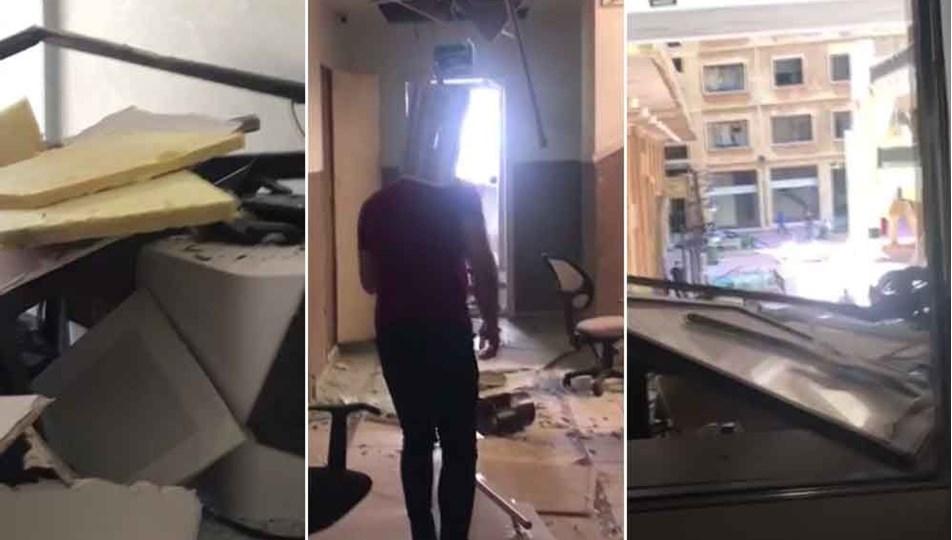 Beyrut'taki THY ofisinde ağır hasar