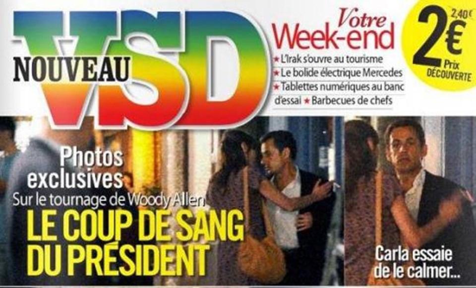 Fransa'nın gündemine düşen fotoğraflar VSD dergisinin kapağında yer aldı.