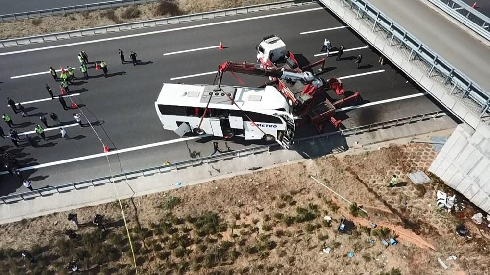 Kuzey Marmara Otoyolu'nda otobüs yoldan çıktı: 5 ölü, 25 yaralı - 8