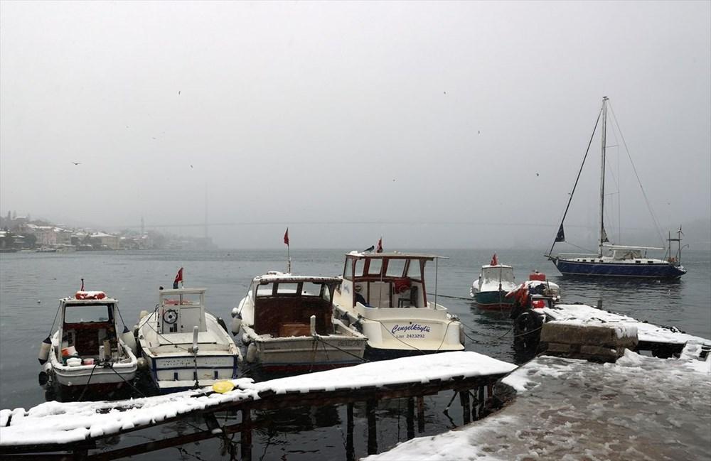 İstanbul'da kar yağışı devam ediyor - 13