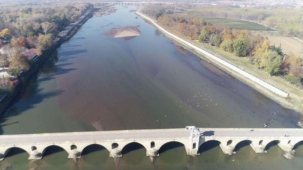 Edirne'de kuraklık: Meriç Nehri'nde kum adacıkları oluştu - 6
