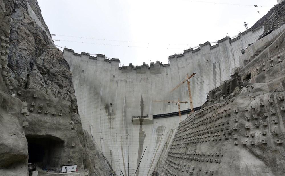 Yusufeli Barajı'nda dökülen 4 milyon metreküp betonla rekor kırıldı - 7