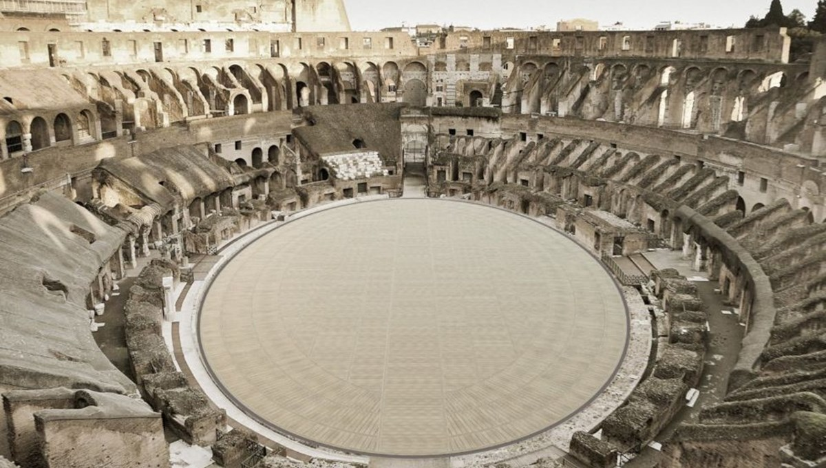 Kolezyum, artık gladyatörlerin gözünden görülebilecek: Tarihi binaya ahşap zemin ekleniyor