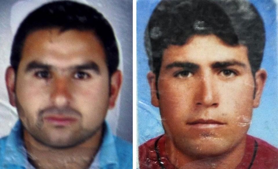 27 yaşındaki Muzaffer Kulak (solda) ve 31 yaşındaki Celal Kulak