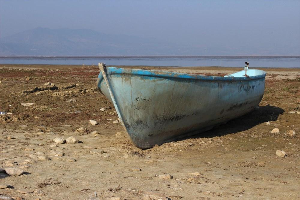 'Kuş cenneti' Marmara Gölü'nde derinlik 40 santimetreye düştü - 6
