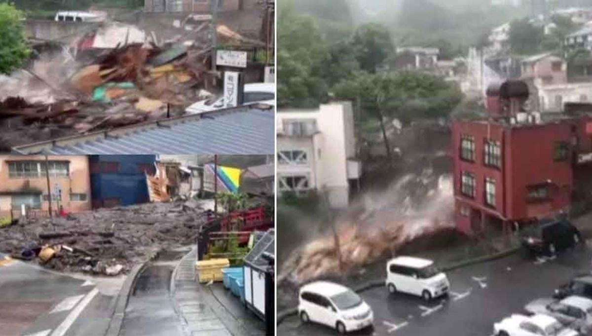 Japonya'da tsunami gibi heyelan