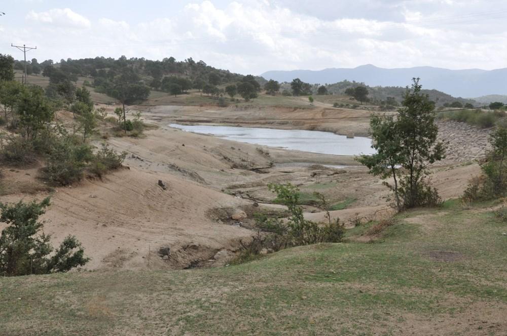 Efir Göleti'inde su seviyesi yüzde 80 azaldı - 5