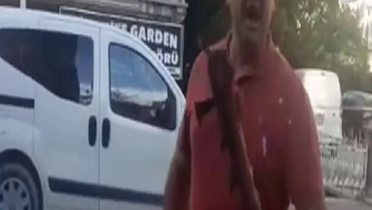 Sokak köpeğini besleyen hayvansevere sopalı tehdit