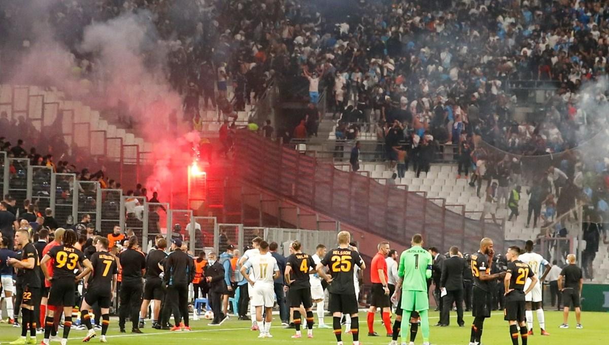 Marsilya-Galatasaray maçına 'meşale' arası
