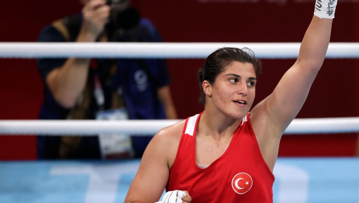 Busenaz Sürmeneli boksta madalyayı garantiledi (2020 Tokyo Olimpiyat Oyunları)
