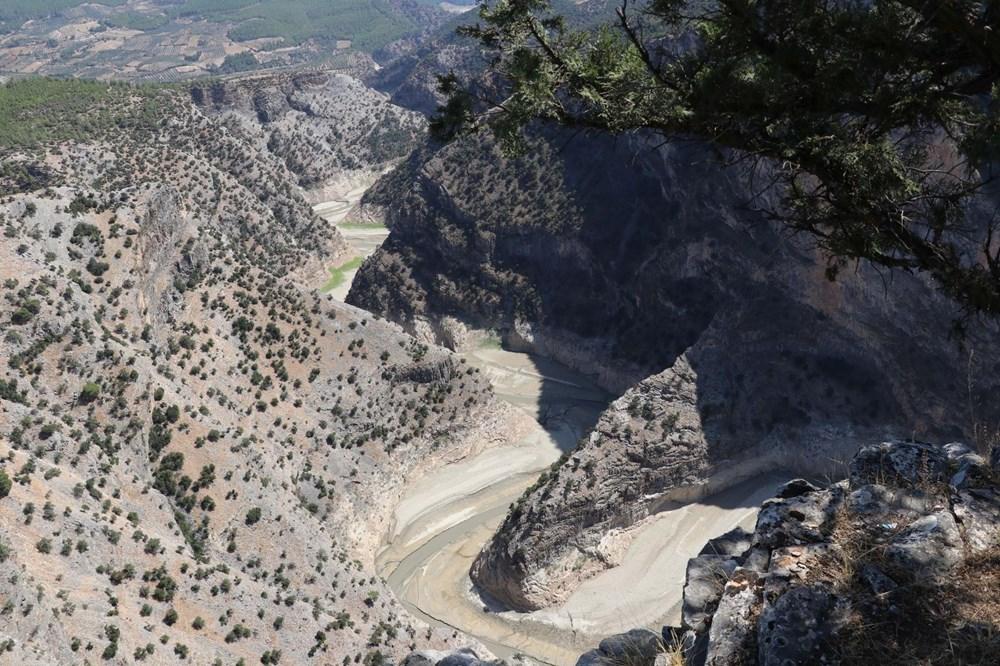 Doğa harikası İnceğiz Kanyonu'nun suyu çekildi - 12