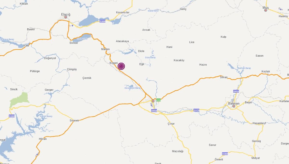 SON DAKİKA HABERİ: Diyarbakır Ergani'de deprem