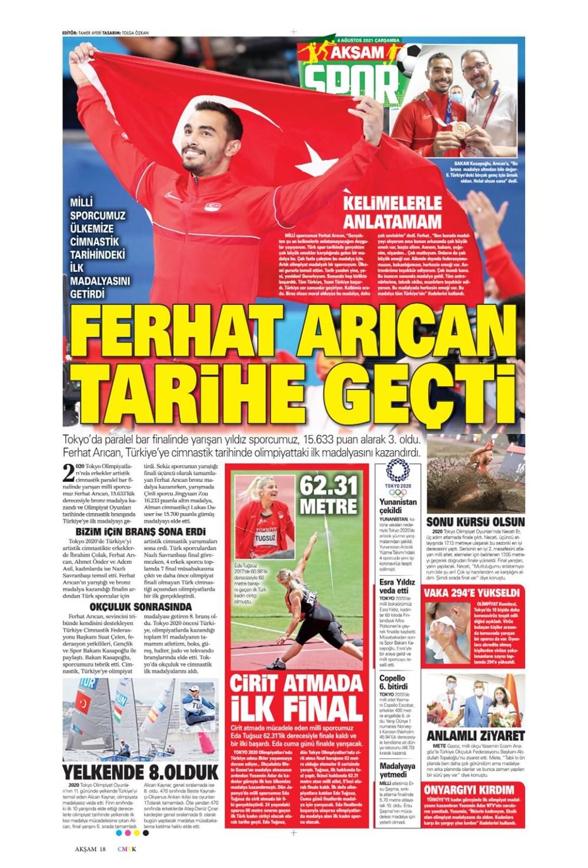 Günün spor manşetleri (4 Ağustos 2021) - 2