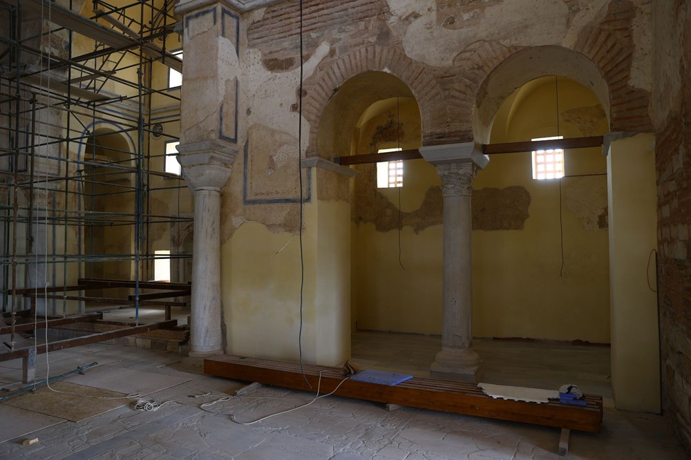 Edirne'deki tarihi Enez Fatih Camisi 56 yıl sonra ibadete açılıyor - 4