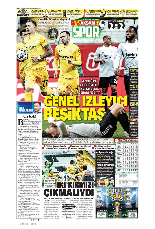 Günün spor manşetleri (17 Nisan 2021) - 1