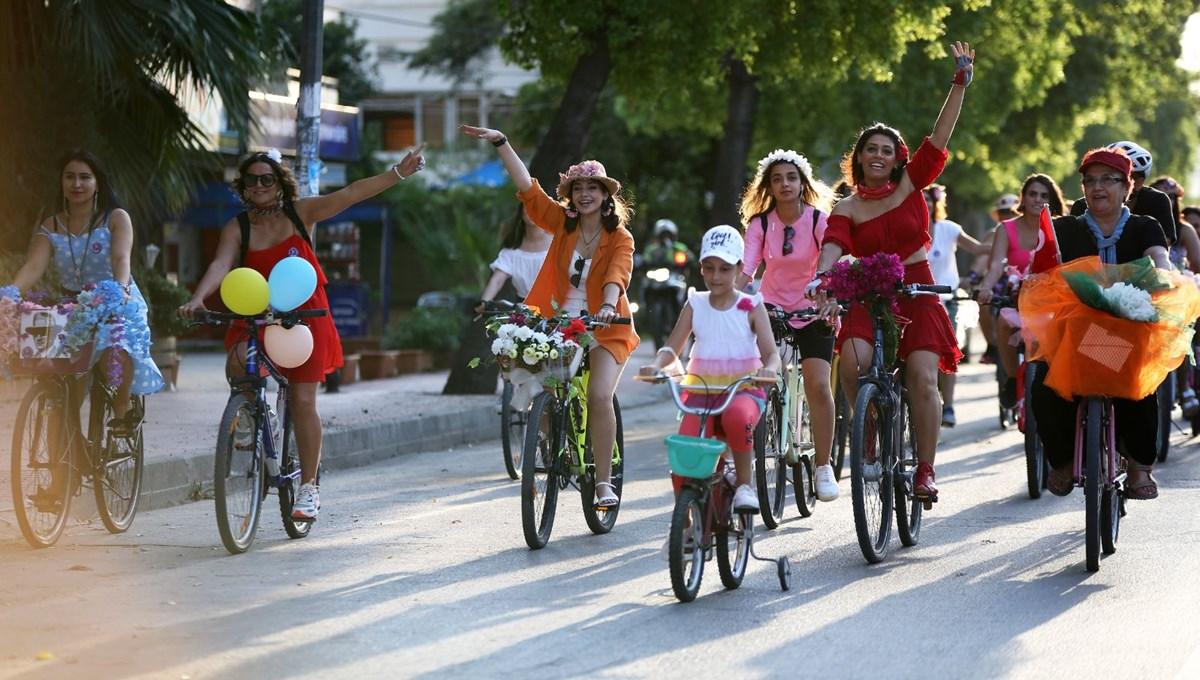 Süslü Kadınlar Bisiklet Turu'nun 9'uncusu yapıldı