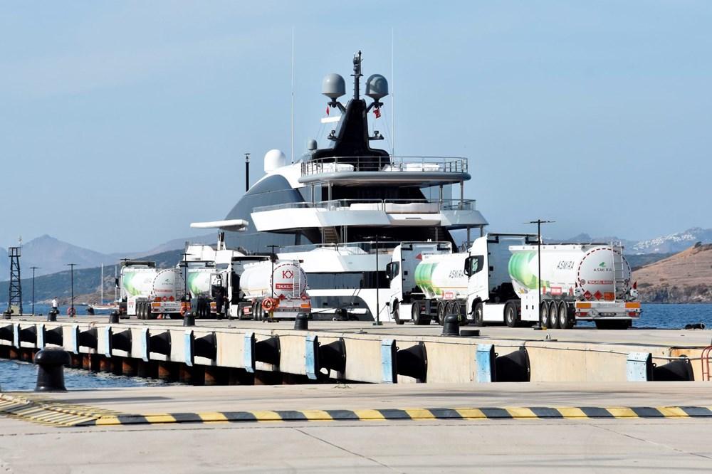 Bodrum'a gelen 90 metrelik lüks yata 450 bin TL'lik akaryakıt ikmali - 8