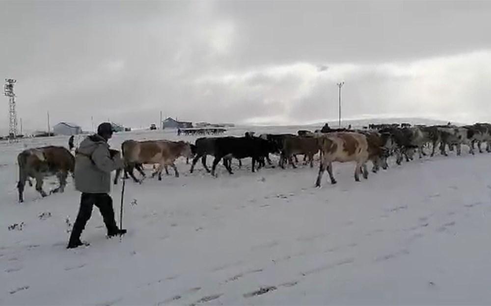 Kar etkili oldu: Yaylacıların dönüş hazırlıkları erken başladı - 6