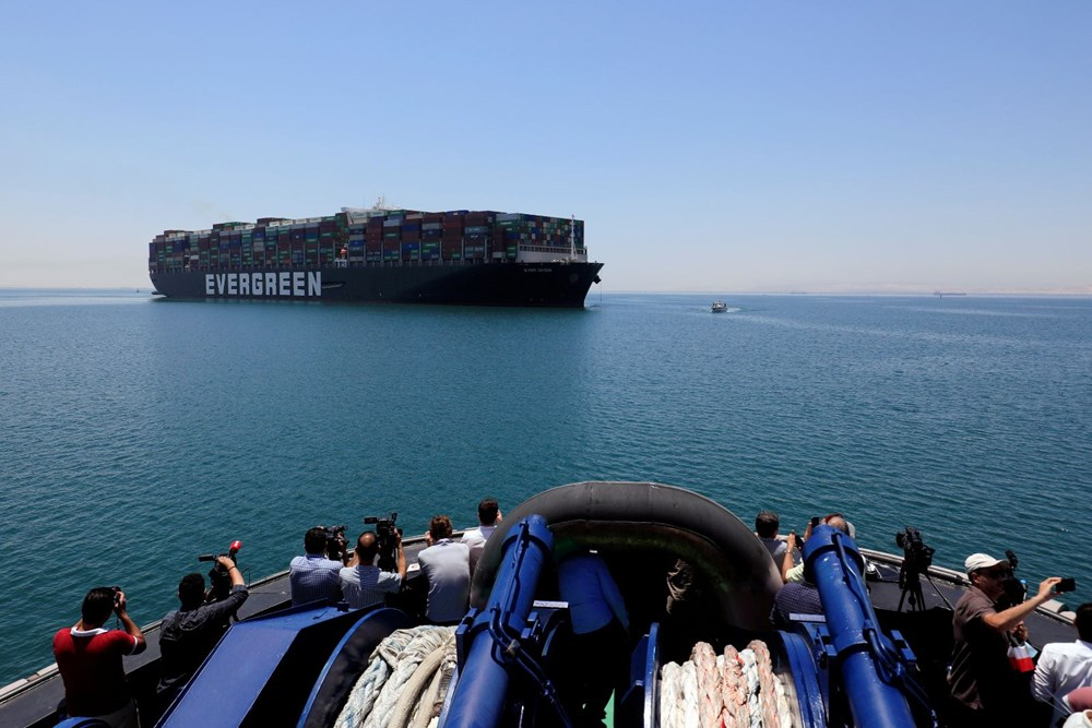 """blocking the Suez Canal """"The Ever Given"""" Headed to the Netherlands - 9"""