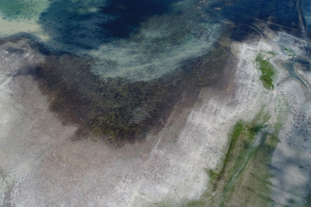 Büyükçekmece Gölü'nde su seviyesi düşüyor - 6