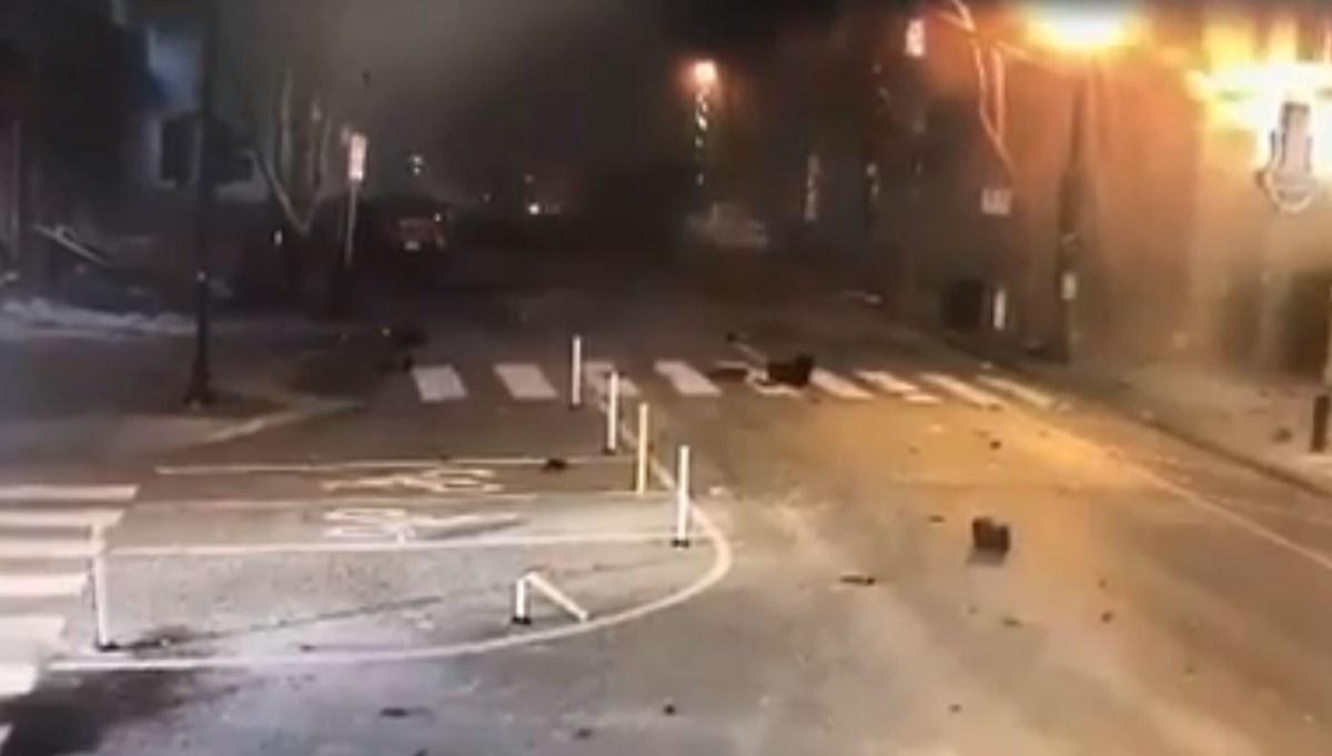 ABD'nin Nashville kentindeki patlamanın yeni görüntüleri ortaya çıktı