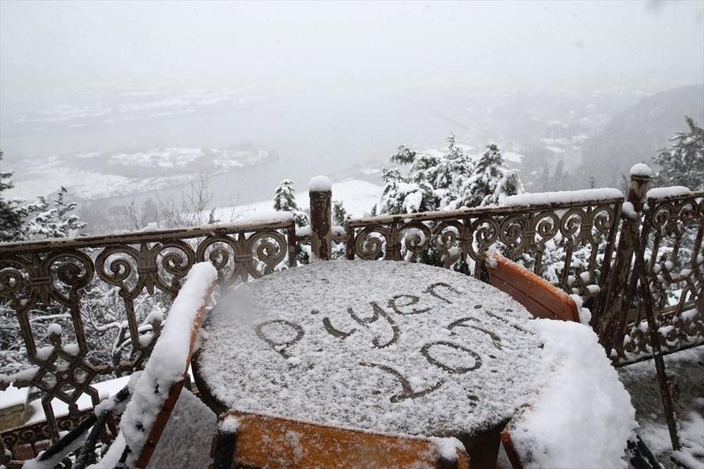 İstanbul'da kar yağışı devam ediyor - 20