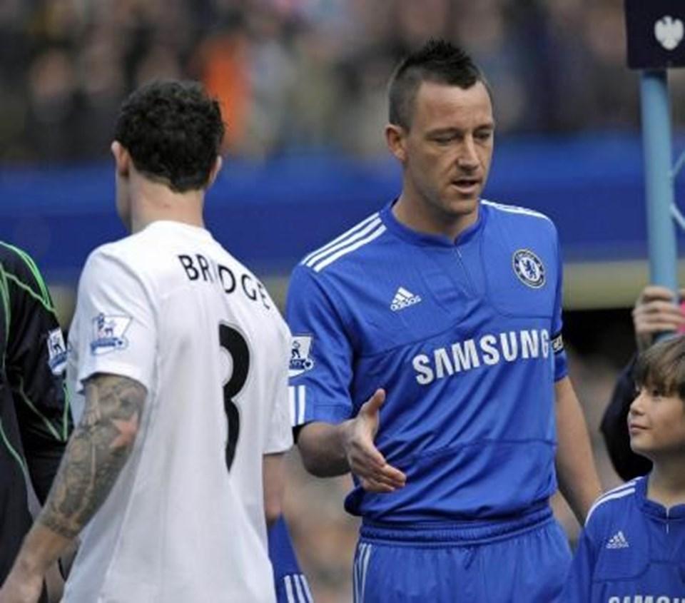 Manchester Cityli oyuncu Brige ve Chelsea kaptanı John Terry