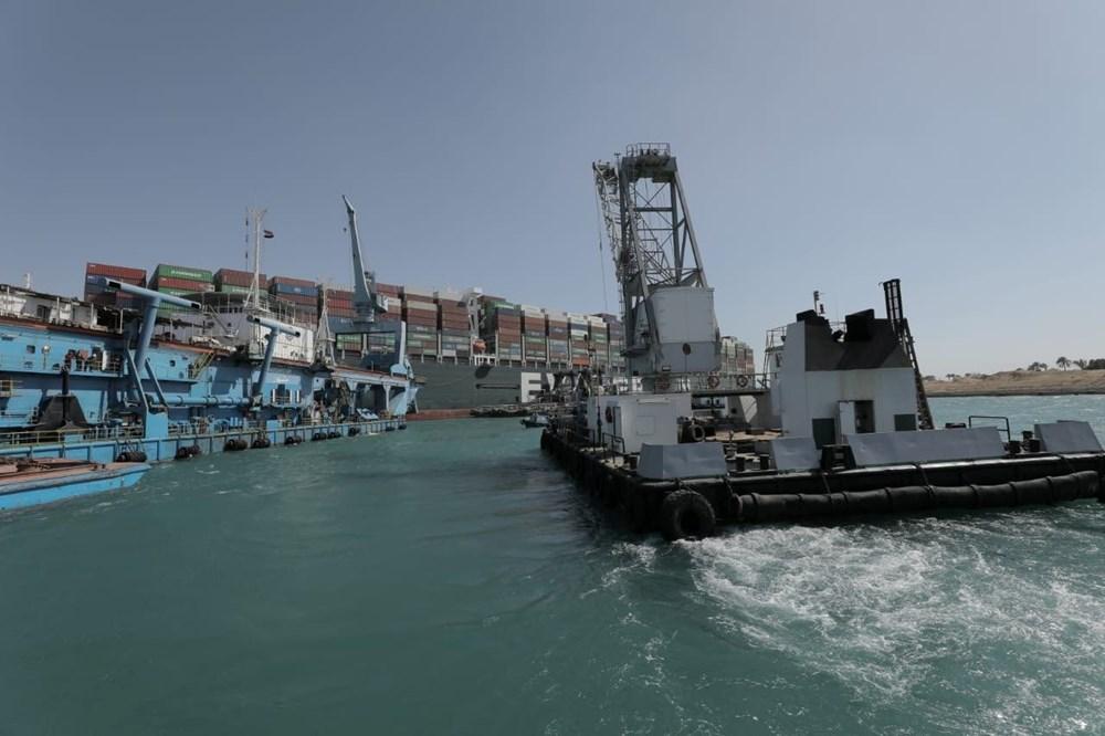 Süveyş Kanalı 6. günde kısmen açıldı: Ever Given gemisi yüzdürüldü - 10
