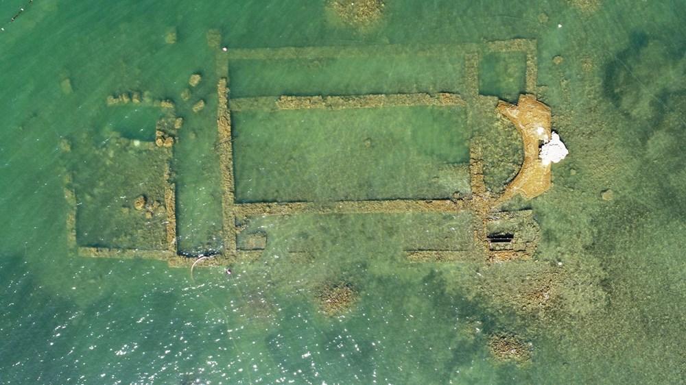 Sular çekilince 2 bin yıllık bazilikanın bir kısmı gün yüzüne çıktı - 7