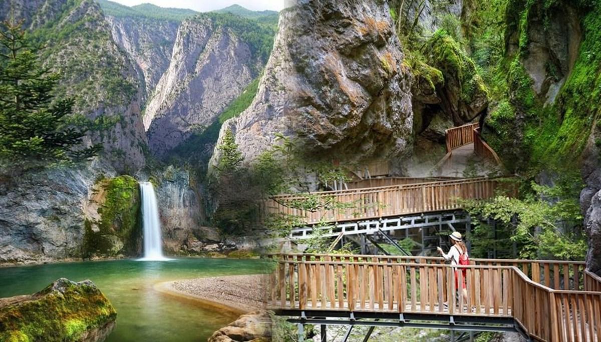 Kastamonu'nun kanyonlarıyla ünlü ilçesi Pınarbaşı nüfusunun 20 katı ziyaretçi ağırladı