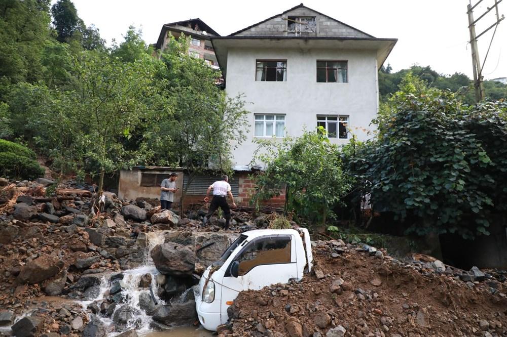 Rize'de sel ve heyelan afetinin hasarı gün ağarınca ortaya çıktı - 22