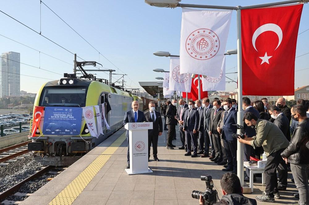 Türkiye'den Çin'e gidecek ilk ihracat treni İstanbul'dan uğurlandı - 5