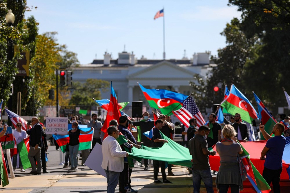 Beyaz Saray önünde Azerbaycan'a destek mitingi düzenlendi - 3