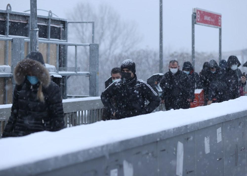 İstanbul'da kar yağışı yeniden etkisini artırdı - 18