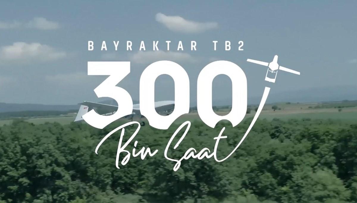 'Bayraktar' uçuş rekoru kırdı: 300 bin uçuş saatini tamamladı