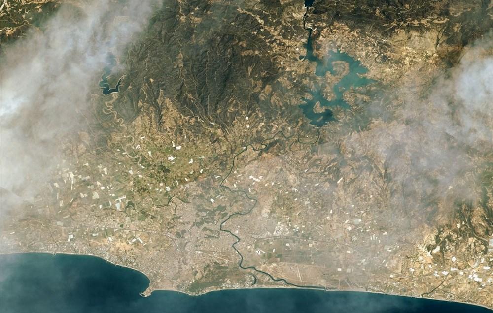 Göktürk uyduları, Manavgat ve Marmaris'teki orman yangınlarını uzaydan görüntüledi - 5