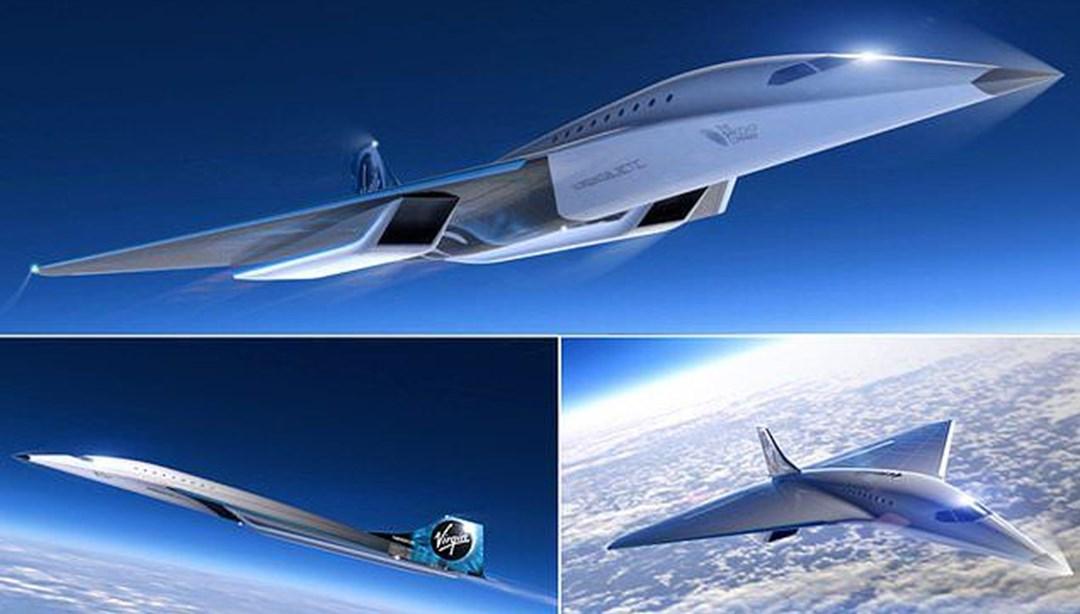 Uzay şirketi tasarımını paylaştı! İşte sesten 3 kat hızlı giden süpersonik jet